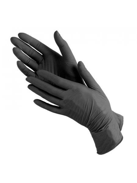 Перчатки нитриловые черные, BENOVY, XS