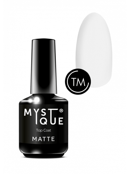 Top Coat Matte Mystique, матовый топ, 15 ml