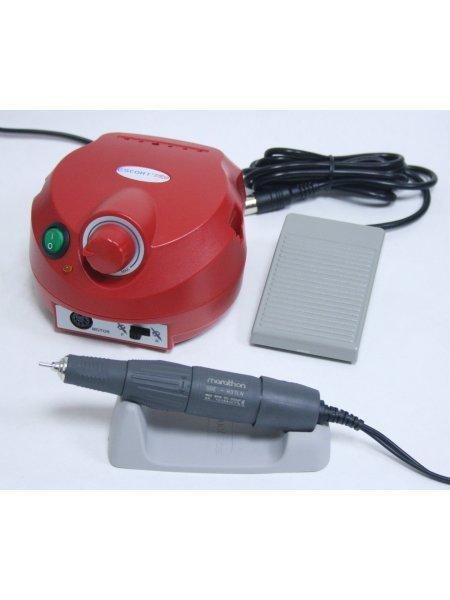 Аппарат для маникюра и педикюра Marathon ESCORT-II PRO NAIL H37LN, с педалью, красный
