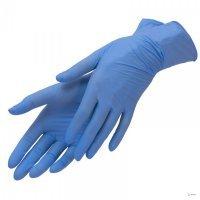Перчатки нитриловые голубые, Benovy, M