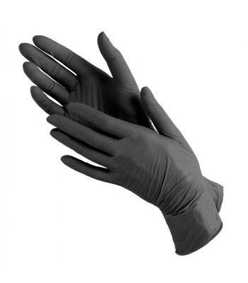 Перчатки нитриловые черные, BENOVY, M