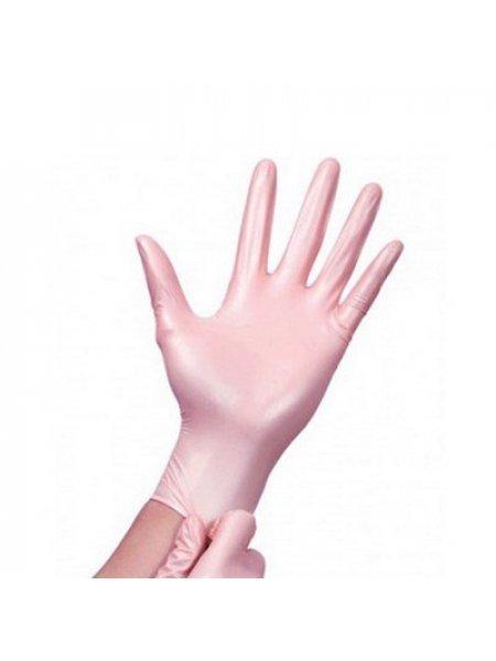 Перчатки нитриловые перламутрово-розовые, BENOVY, XS