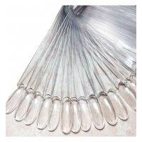 Ромашка веерная на кольце - прозрачная, форма миндаль (50 шт)