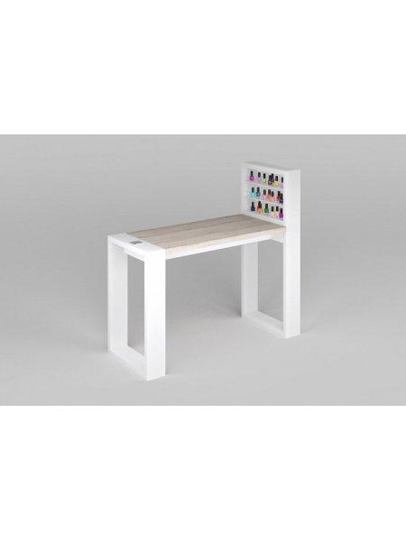 Одноместный стол для маникюра с подставкой для гель-лаков
