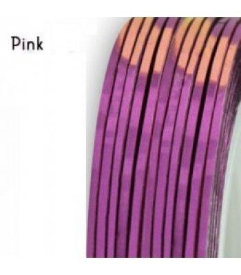 Нить для дизайна ногтей фольга, розовая