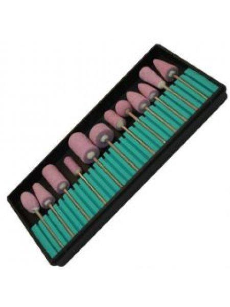 Фрезы корундовые насадки набор (керамические), 12 шт