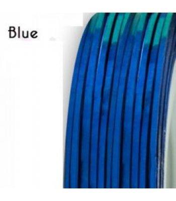 Нить для дизайна ногтей фольга, синяя