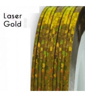 Нить для дизайна ногтей фольга, золото голография