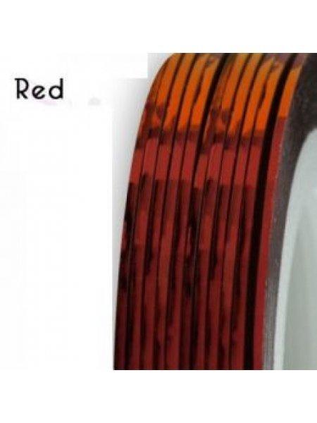 Нить для дизайна ногтей фольга, красная