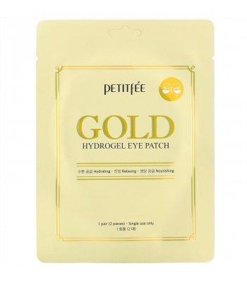 PetitFee, Гидрогелевые патчи для век Gold, 1 pair