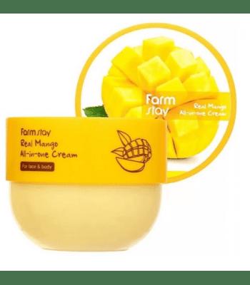 FarmStay, Real Mango All-in-one, Многофункциональный крем с экстрактом манго, 300 мл