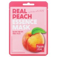 FarmStay, Real Peach Essence Mask, Маска для лица, 23 мл
