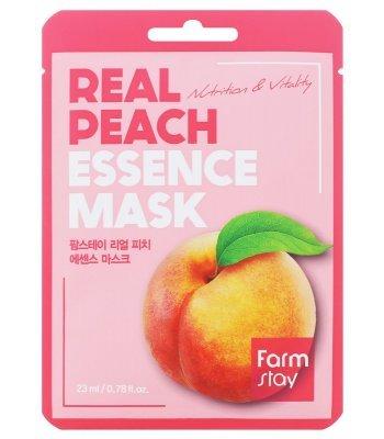 FarmStay, Real Peach Essence Mask, Маска для лица, 23 мл