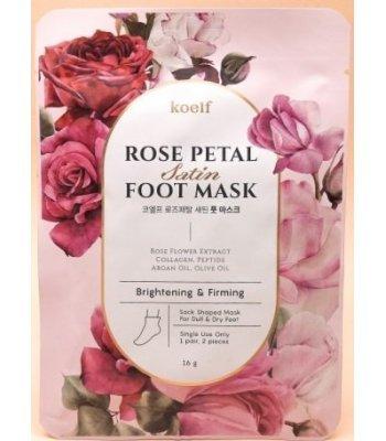Koelf Rose Petal Foot Mask, маска - носочки с экстрактом розы, 16 г