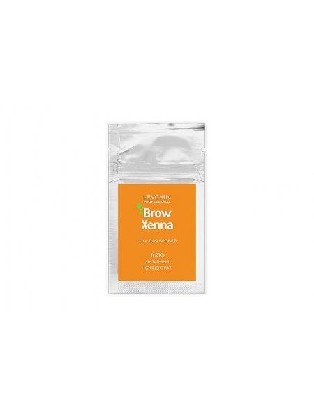 BrowXenna Хна для бровей #210, янтарный концентрат (саше-рефилл), 6 гр