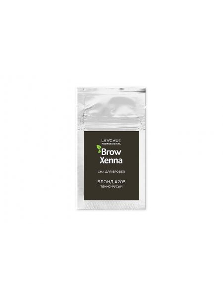 BrowXenna Хна для бровей Блонд #205, темно-русый (саше-рефилл), 6 гр
