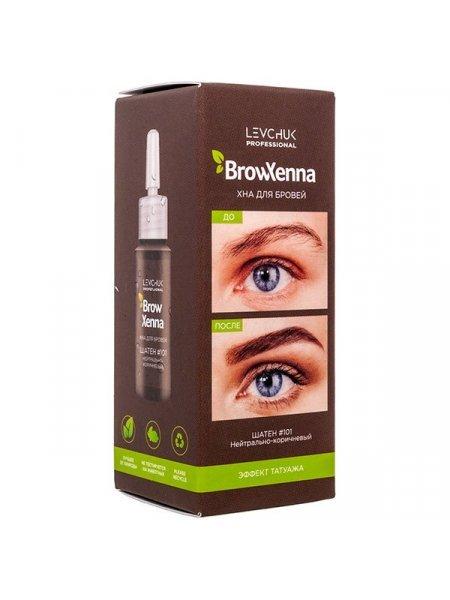 BrowXenna Хна для бровей Шатен #101, нейтрально-коричневый (флакон), 10 мл