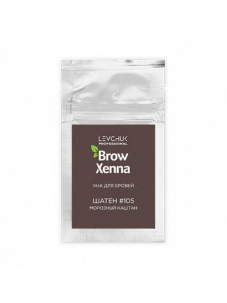 BrowXenna Хна для бровей Шатен #105, морозный каштан (саше-рефилл), 6 гр